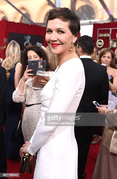 Actress Maggie Gyllenhaal attends TNT's 21st Annual Screen Actors Guild Awards at The Shrine Auditorium on January 25 2015 in Los Angeles California...