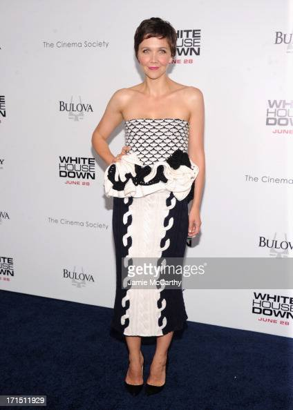 Actress Maggie Gyllenhaal attends 'White House Down' New York Premiere at Ziegfeld Theater on June 25 2013 in New York City