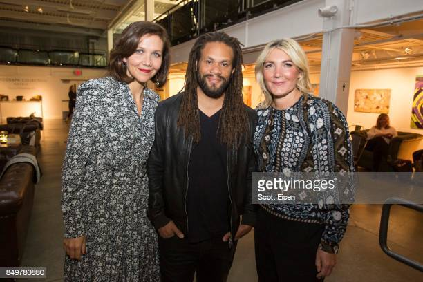 Actress Maggie Gyllenhaal Franklin Leonard and Amanda Altree at Autograph Collection Hotels' exclusive screening of 'Gemini' on September 19 2017 in...