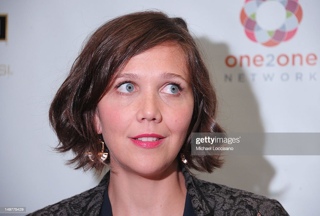 Actress <a gi-track='captionPersonalityLinkClicked' href=/galleries/search?phrase=Maggie+Gyllenhaal&family=editorial&specificpeople=202607 ng-click='$event.stopPropagation()'>Maggie Gyllenhaal</a> is interviewed during the 'Won't Back Down' screening at NYIT Auditorium on August 3, 2012 in New York City.