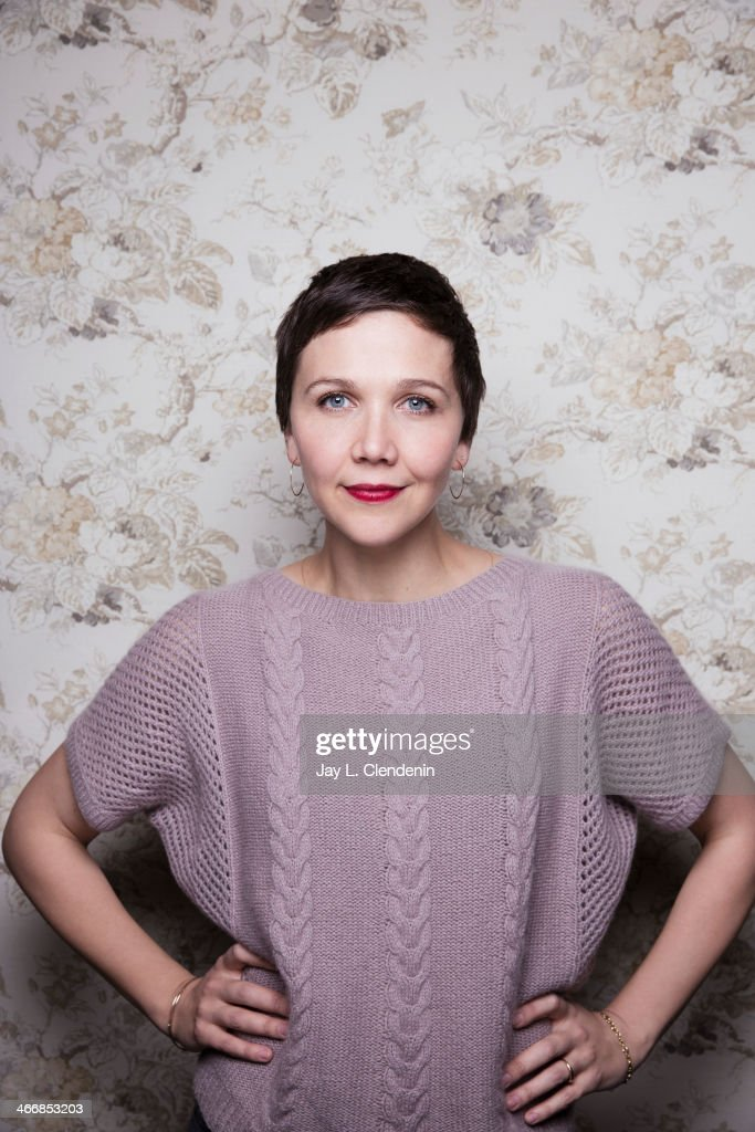 Actress Maggie Gyllenhaal is photographed for Los Angeles Times on January 18, 2014 in Park City, Utah. PUBLISHED IMAGE.