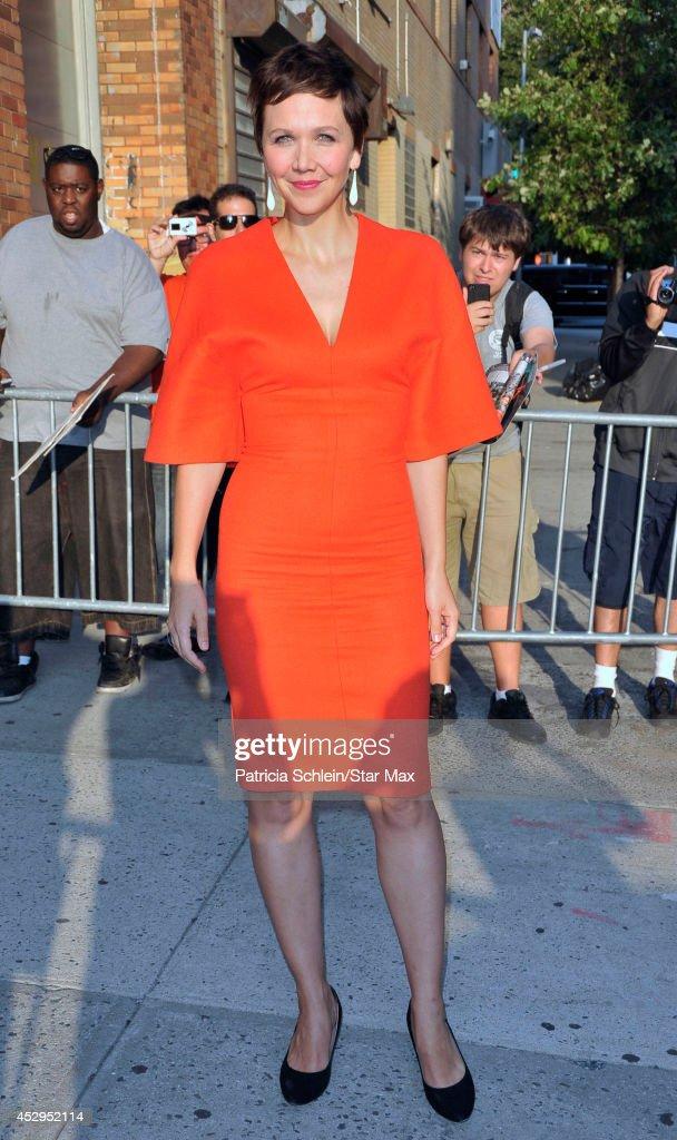 Actress Maggie Gyllenhaal is seen on July 30, 2014 in New York City.