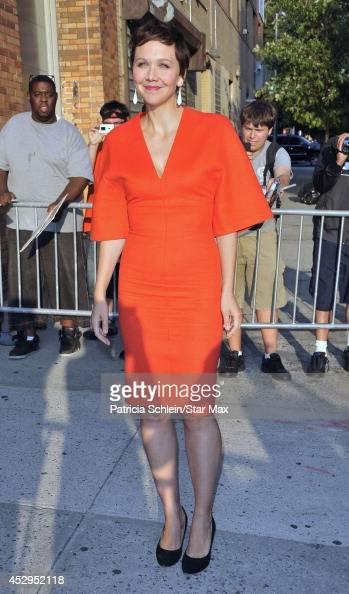 Actress Maggie Gyllenhaal is seen on July 30 2014 in New York City