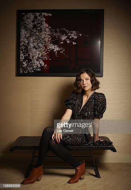 Actress Maggie Gyllenhaal poses for a portrait for the New York Times in New York City in December 2009 Published image