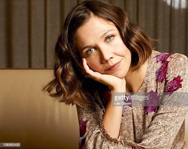 Actress Maggie Gyllenhaal poses for a portrait for the New York Times in New York City in December 2009