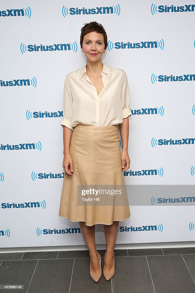 Actress Maggie Gyllenhaal visits the SiriusXM Studios on July 29 2014 in New York City