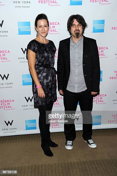 Actress Maggie Kiley and filmmaker Scandar Copti attend the Awards Night Show Party during the 2010 Tribeca Film Festival at the W New York Union...