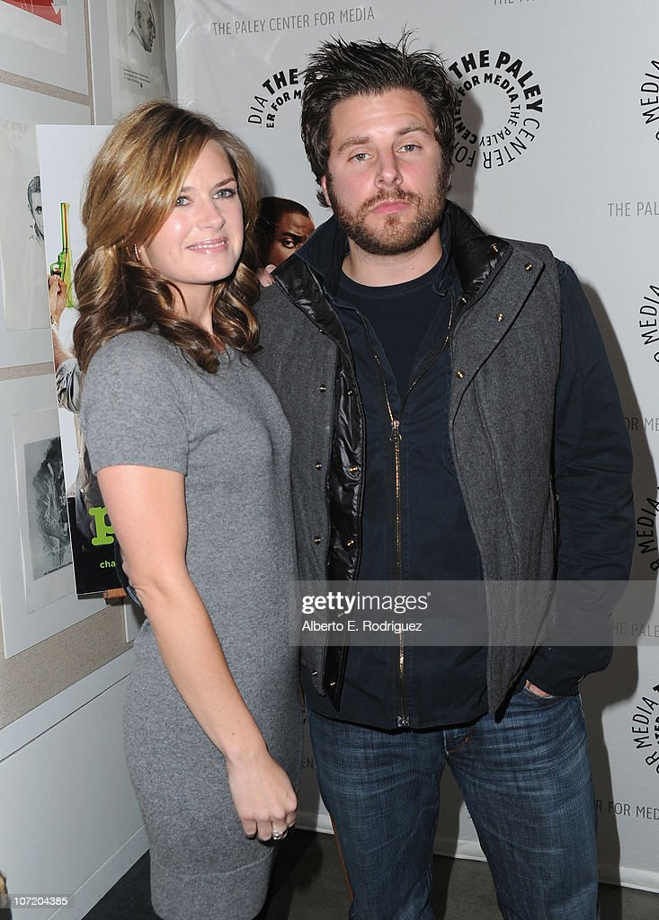 Actress Maggie Lawson and actor James Roday arrive to The Paley Center For Media's presentation of a 'Psych' And 'Twin Peaks' Reunion on November 29, 2010 in Beverly Hills, California.