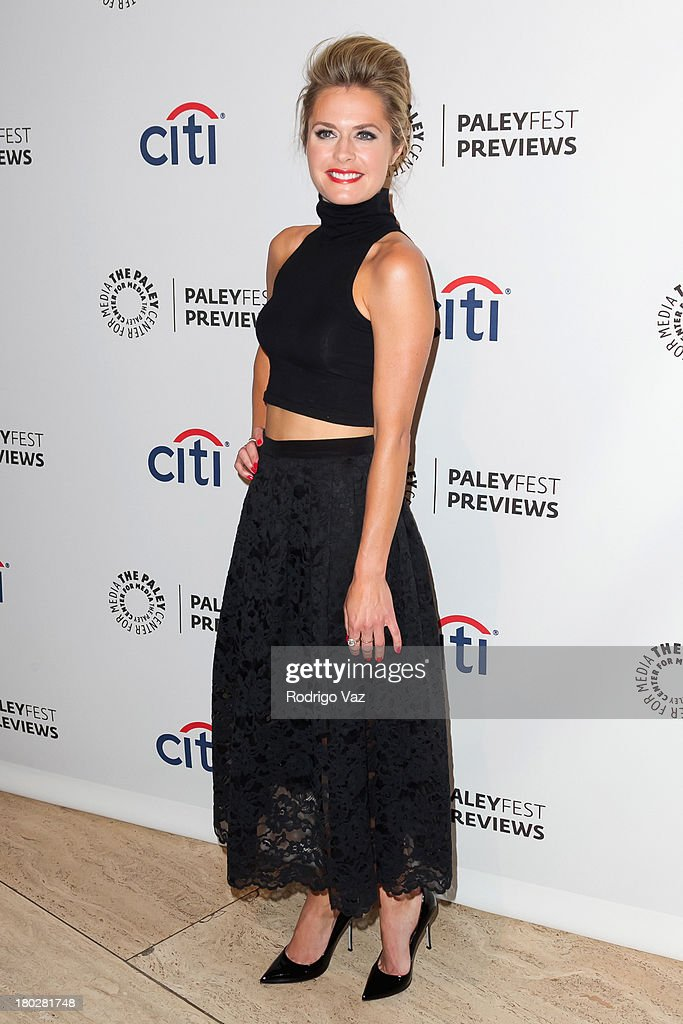 Actress <a gi-track='captionPersonalityLinkClicked' href=/galleries/search?phrase=Maggie+Lawson&family=editorial&specificpeople=750626 ng-click='$event.stopPropagation()'>Maggie Lawson</a> arrives at PaleyFestPreviews Fall TV ABC's 'Trophy Wife' And 'Back In The Game' at The Paley Center for Media on September 10, 2013 in Beverly Hills, California.