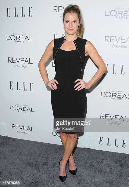 Actress Maggie Lawson arrives at the 21st Annual ELLE Women In Hollywood Awards at Four Seasons Hotel Los Angeles at Beverly Hills on October 20 2014...
