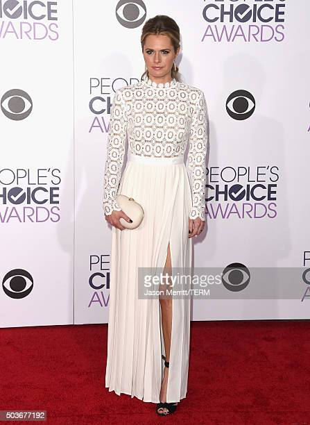 Actress Maggie Lawson attends the People's Choice Awards 2016 at Microsoft Theater on January 6 2016 in Los Angeles California