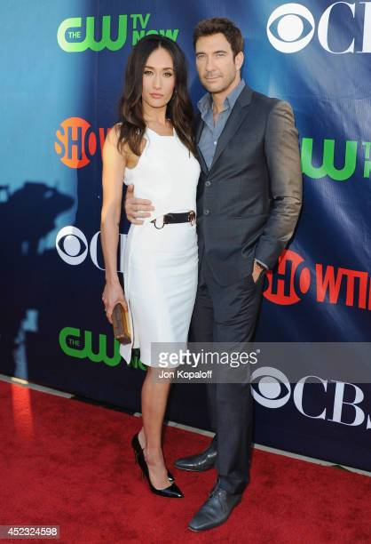 Actress Maggie Q and actor Dylan McDermott arrive at the CBS The CW Showtime CBS Television Distribution 2014 Television Critics Association Summer...