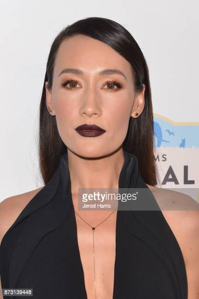 Actress Maggie Q arrives at 'Evening With WildAid' at the Beverly Wilshire Four Seasons Hotel on November 11 2017 in Beverly Hills California