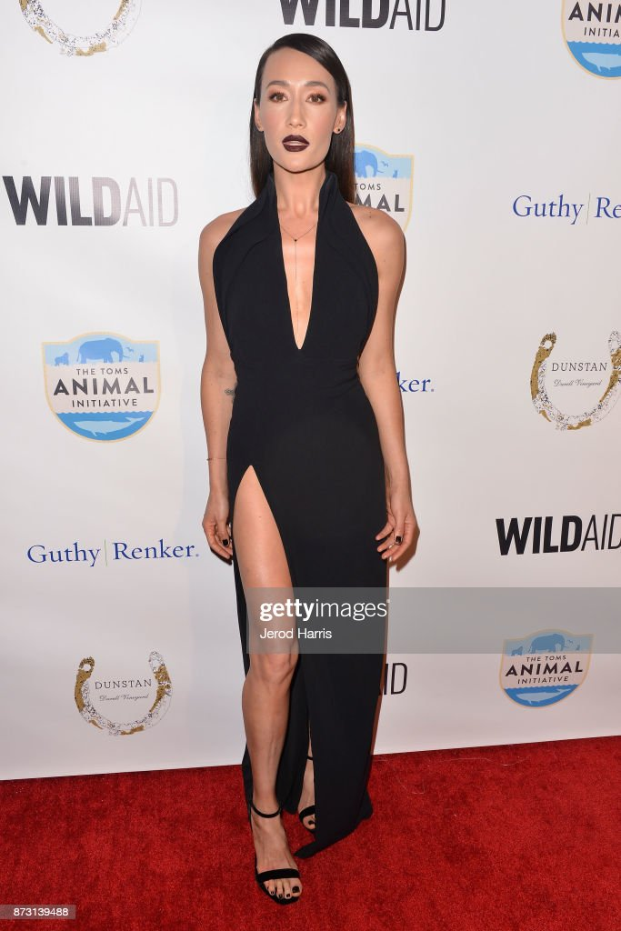 Actress Maggie Q arrives at 'Evening With WildAid' at the Beverly Wilshire Four Seasons Hotel on November 11, 2017 in Beverly Hills, California.