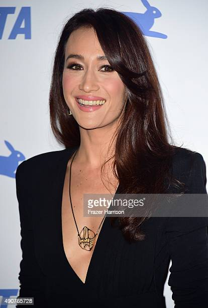 Actress Maggie Q arrives at PETA's 35th Anniversary Party at Hollywood Palladium on September 30 2015 in Los Angeles California