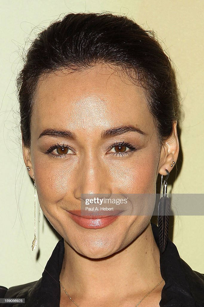 Actress Maggie Q arrives at the Audi Golden Globe 2013 Kick Off Party at Cecconi's Restaurant on January 6, 2013 in Los Angeles, California.
