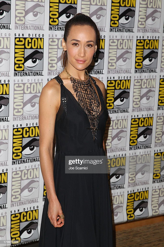 Actress Maggie Q attends 'Divergent' Comic-Con Press Line at San Diego Convention Center on July 18, 2013 in San Diego, California.
