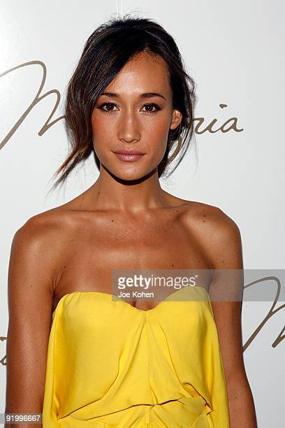 Actress Maggie Q attends Max Azria Spring 2010 during MercedesBenz Fashion Week at Bryant Park on September 15 2009 in New York City