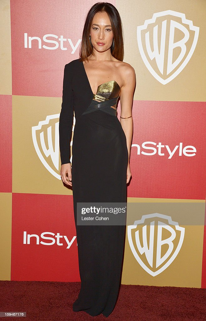 Actress Maggie Q attends the 2013 InStyle and Warner Bros. 70th Annual Golden Globe Awards Post-Party held at the Oasis Courtyard in The Beverly Hilton Hotel on January 13, 2013 in Beverly Hills, California.