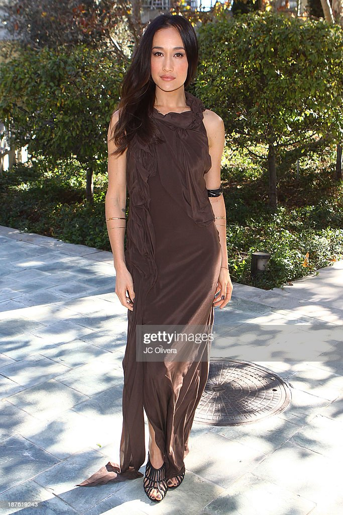 Actress <a gi-track='captionPersonalityLinkClicked' href=/galleries/search?phrase=Maggie+Q&family=editorial&specificpeople=555127 ng-click='$event.stopPropagation()'>Maggie Q</a> attends the 6th annual Diamond in the RAW-Action Icon Awards at Skirball Cultural Center on November 10, 2013 in Los Angeles, California.