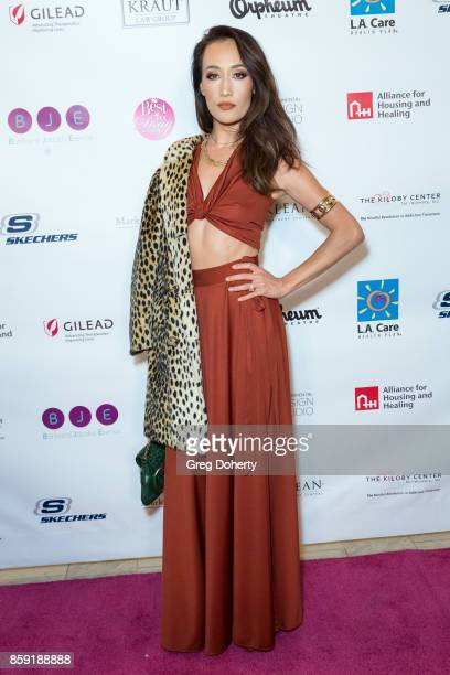Actress Maggie Q attends the Best In Drag Show 2017 at Orpheum Theatre on October 8 2017 in Los Angeles California