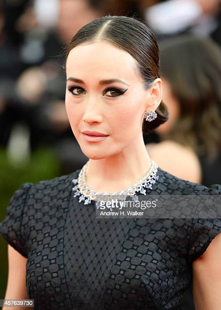 Actress Maggie Q attends the 'Charles James Beyond Fashion' Costume Institute Gala at the Metropolitan Museum of Art on May 5 2014 in New York City