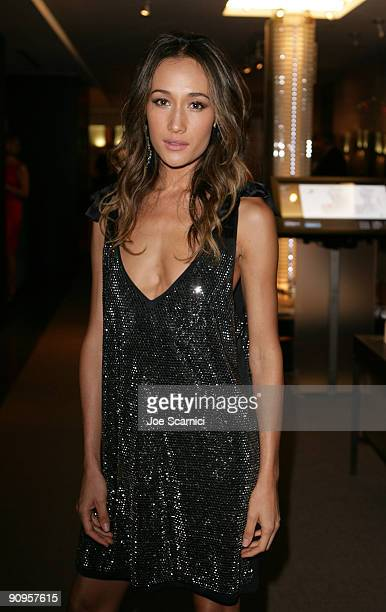 Actress Maggie Q attends the Warrior And The Wolf After Party at Living ShangriLa during the 2009 Toronto International Film Festival on September 13...
