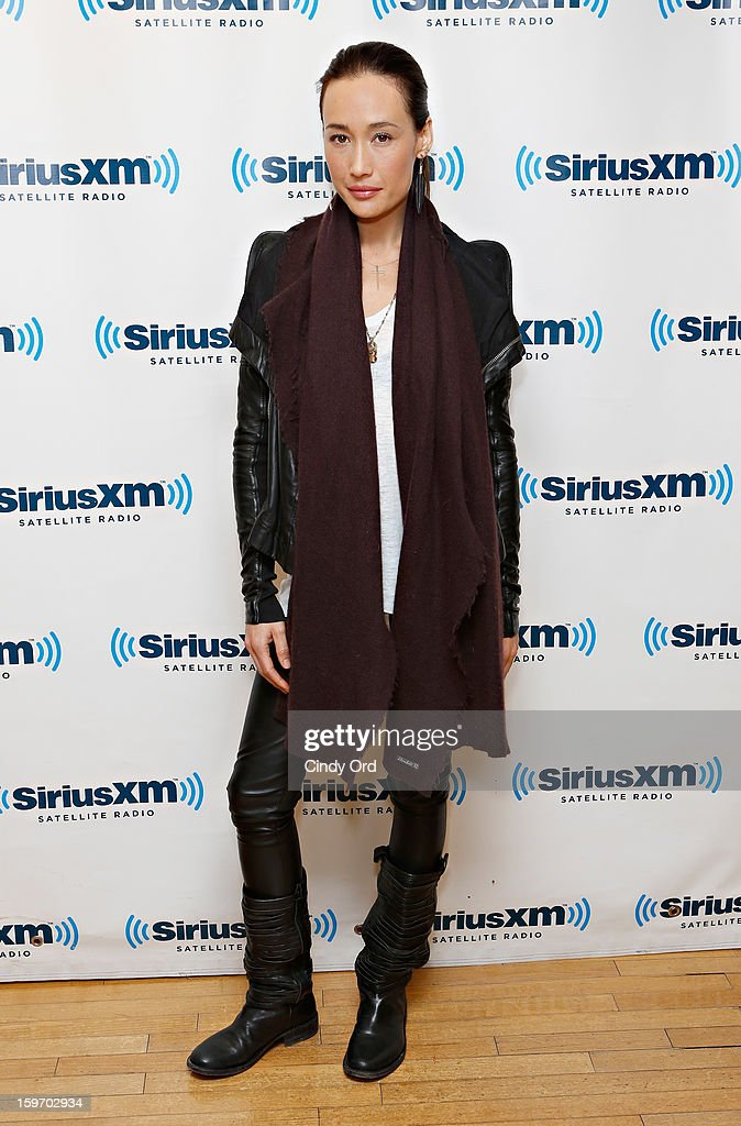 Actress Maggie Q visits the SiriusXM Studios on January 18, 2013 in New York City.