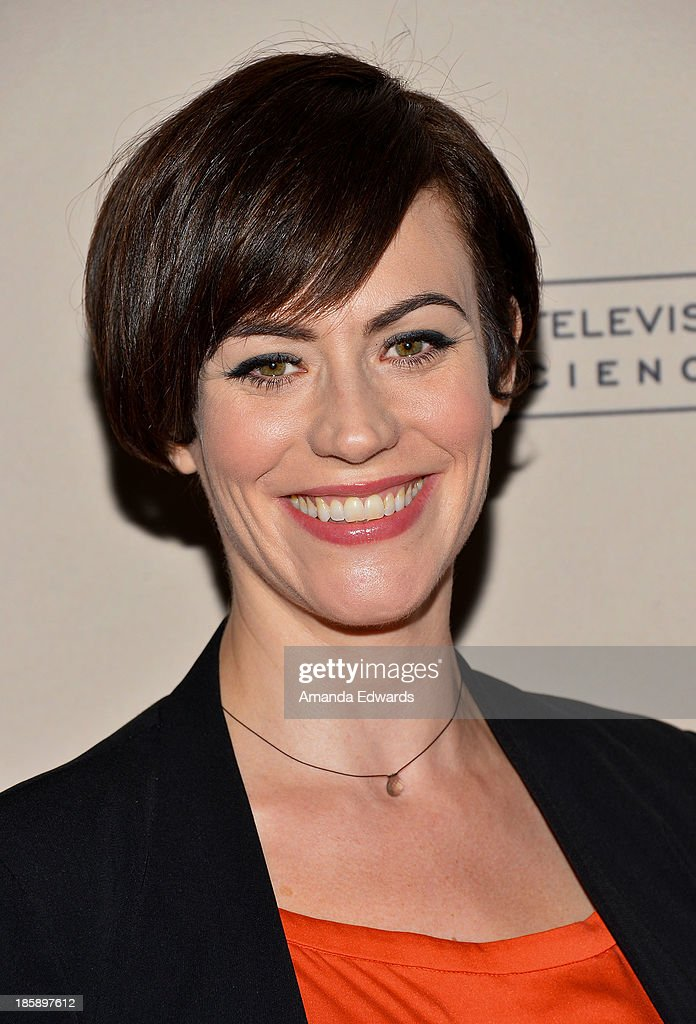 Actress <a gi-track='captionPersonalityLinkClicked' href=/galleries/search?phrase=Maggie+Siff&family=editorial&specificpeople=4407086 ng-click='$event.stopPropagation()'>Maggie Siff</a> arrives at an evening with 'Sons Of Anarchy' presented by The Television Academy at the Leonard H. Goldenson Theatre on October 25, 2013 in North Hollywood, California.