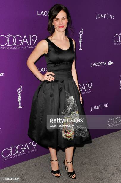 Actress Maggie Siff attends the 19th CDGA at The Beverly Hilton Hotel on February 21 2017 in Beverly Hills California