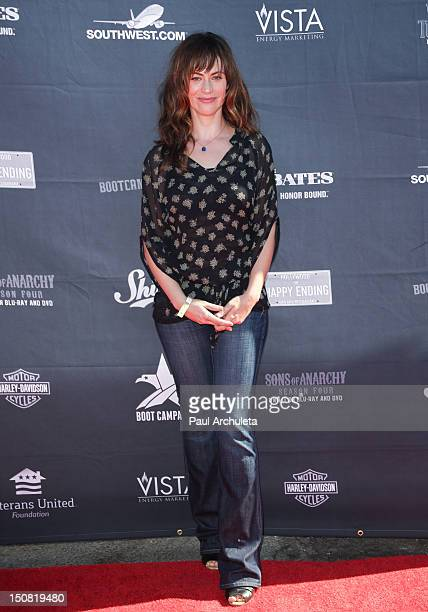 Actress Maggie Siff attends the 2nd annual Boot Ride and Rally at Happy Ending Bar Restaurant on August 26 2012 in Hollywood California