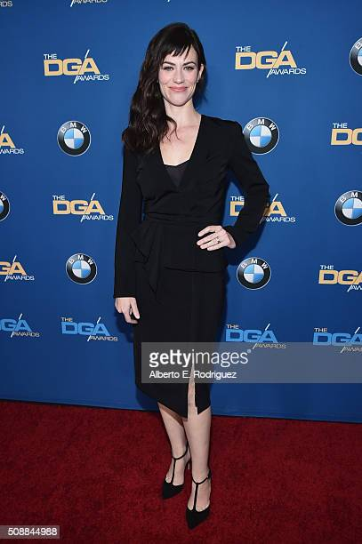 Actress Maggie Siff attends the 68th Annual Directors Guild Of America Awards at the Hyatt Regency Century Plaza on February 6 2016 in Los Angeles...