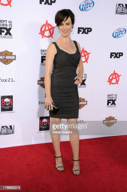 Actress Maggie Siff attends the Season 6 premiere screening of FX's 'Sons Of Anarchy' at Dolby Theatre on September 7 2013 in Hollywood California