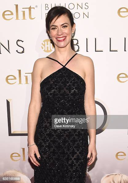 Actress Maggie Siff attends the Showtime and Elit Vodka hosted BILLIONS Season 2 premiere and party held at Cipriani's in New York City on February...