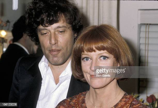 Actress Maggie Smith and playwright Tom Stoppard attending the opening of 'Night and Day' on November 27 1979 at the Anta Theater in New York City...