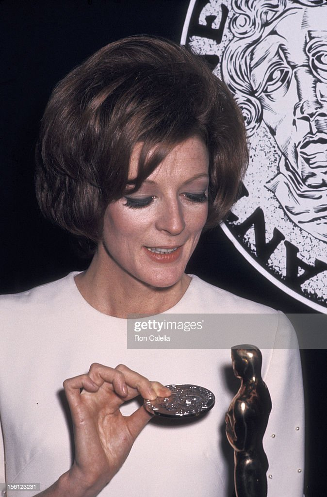 Actress <a gi-track='captionPersonalityLinkClicked' href=/galleries/search?phrase=Maggie+Smith&family=editorial&specificpeople=206821 ng-click='$event.stopPropagation()'>Maggie Smith</a> attending 24th Annual Tony Awards on April 19, 1970 at the Mark Hellinger Theater in New York City, New York.