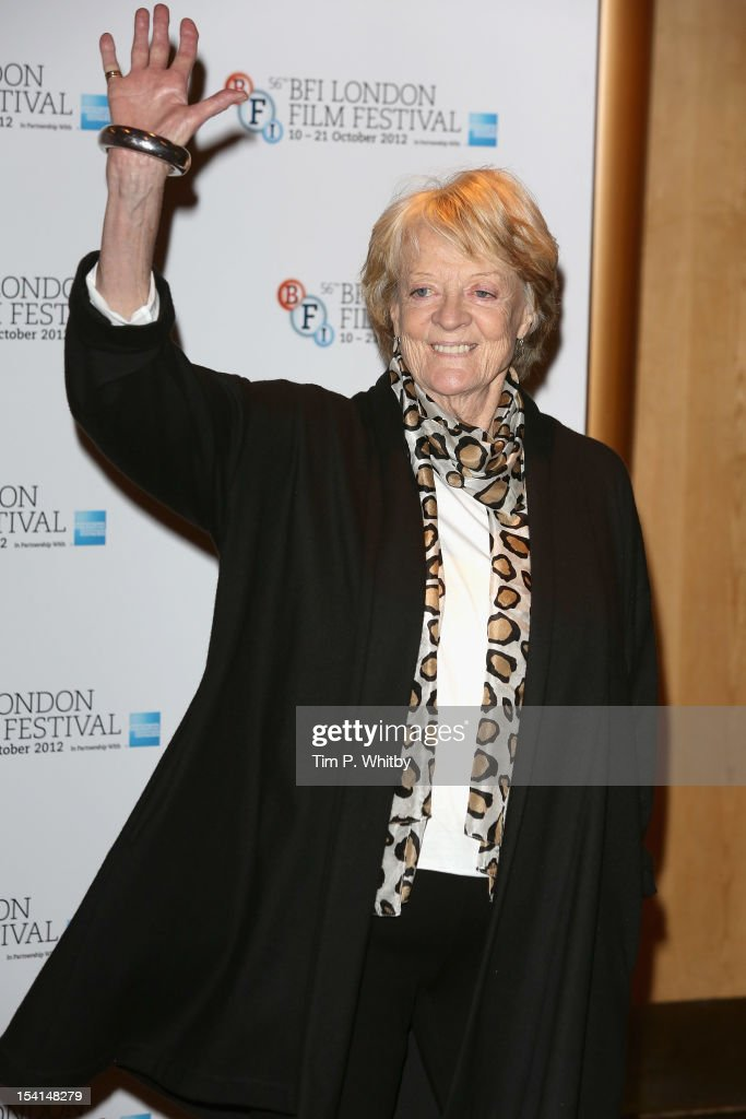 Actress <a gi-track='captionPersonalityLinkClicked' href=/galleries/search?phrase=Maggie+Smith&family=editorial&specificpeople=206821 ng-click='$event.stopPropagation()'>Maggie Smith</a> attends the 'Quartet' photocall during the BFI London Film Festival at the Empire Leicester Square on October 15, 2012 in London, England.