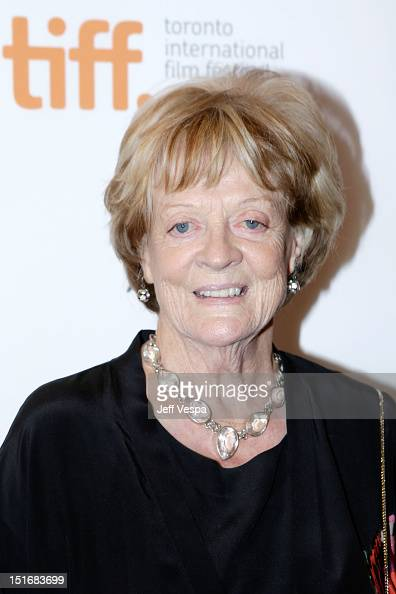 Actress Maggie Smith attends the...