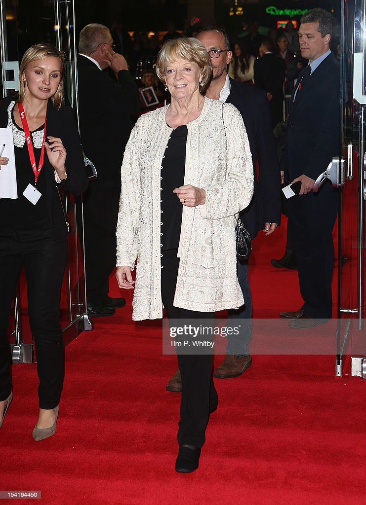 Actress Maggie Smith attends the 'Quartet' premiere during the 56th BFI London Film Festival at the Odeon Leicester Square on October 15, 2012 in London, England.