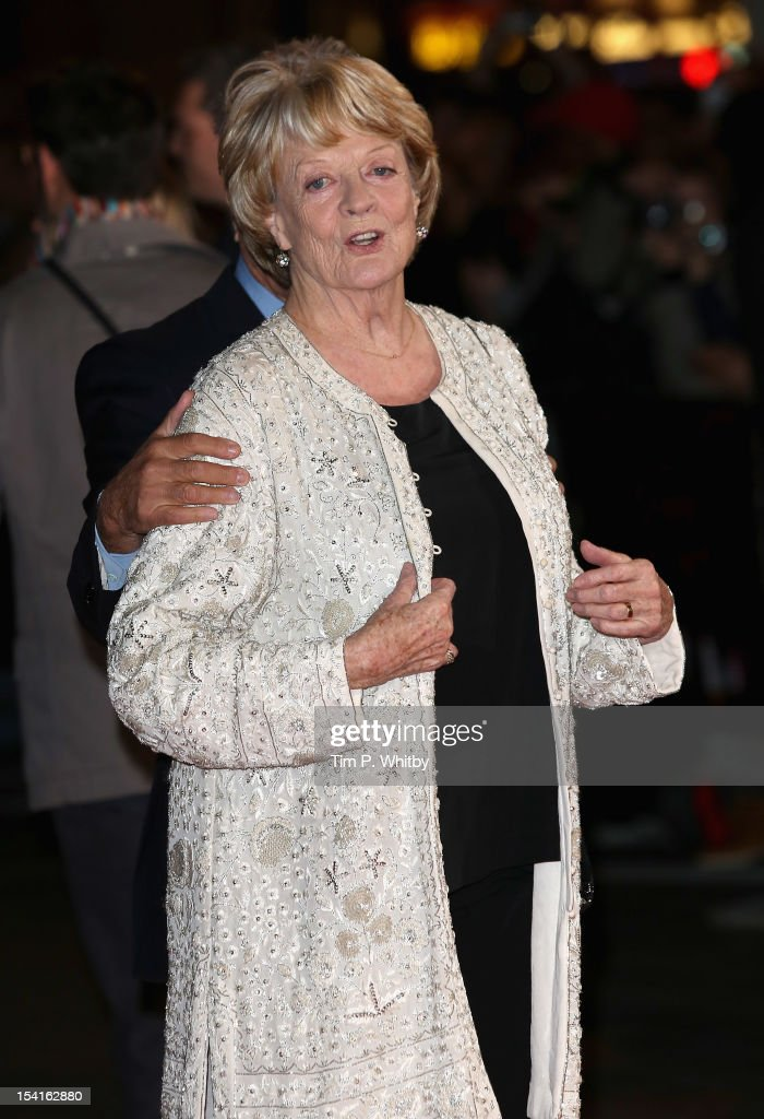 Actress Maggie Smith attens the 'Quartet' premiere during the 56th BFI London Film Festival at the Odeon Leicester Square on October 15, 2012 in London, England.