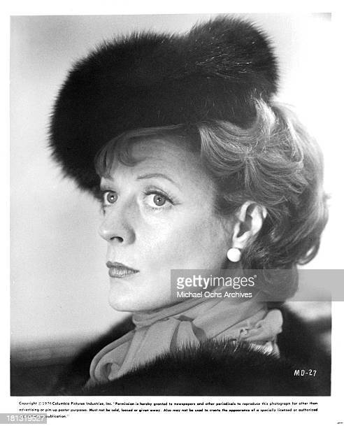 Actress Maggie Smith on the set of Columbia Pictures movie 'Murder by Death' in 1976