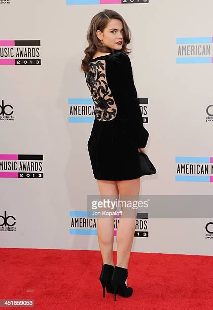Actress Maia Mitchell arrives at the 2013 American Music Awards at Nokia Theatre LA Live on November 24 2013 in Los Angeles California