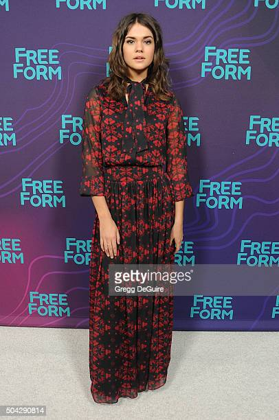 Actress Maia Mitchell arrives at the 2016 Winter TCA Tour Disney/ABC at Langham Hotel on January 9 2016 in Pasadena California
