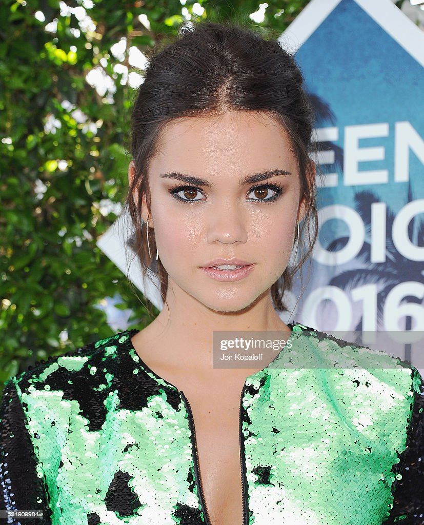 Actress Maia Mitchell arrives at the Teen Choice Awards 2016 at The Forum on July 31, 2016 in Inglewood, California.
