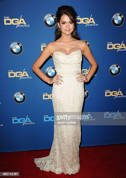 Actress Maia Mitchell attends the 66th annual Directors Guild of America Awards at the Hyatt Regency Century Plaza on January 25 2014 in Century City...