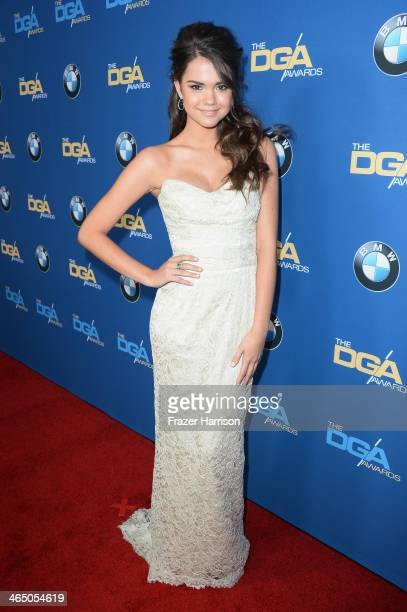 Actress Maia Mitchell attends the 66th Annual Directors Guild Of America Awards held at the Hyatt Regency Century Plaza on January 25 2014 in Century...