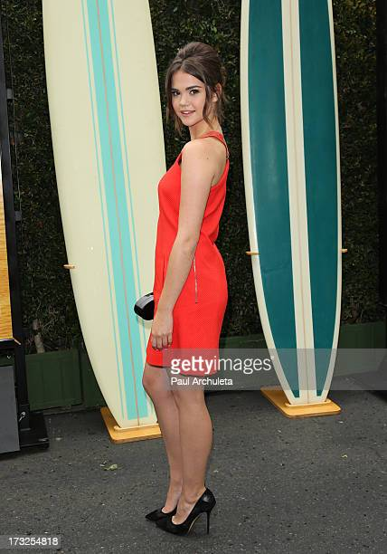 Actress Maia Mitchell attends the cast reunion of 'Teen Beach Movie' for movie night at Walt Disney Studios on July 10 2013 in Burbank California