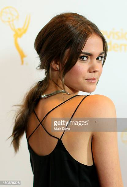 Actress Maia Mitchell attends the Television Academy Presents An Evening With 'The Fosters' held at the El Portal Theatre on December 15 2014 in...