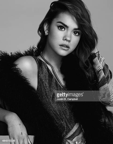 Actress Maia Mitchell is photographed for Just Jared on July 27 2015 in Los Angeles California