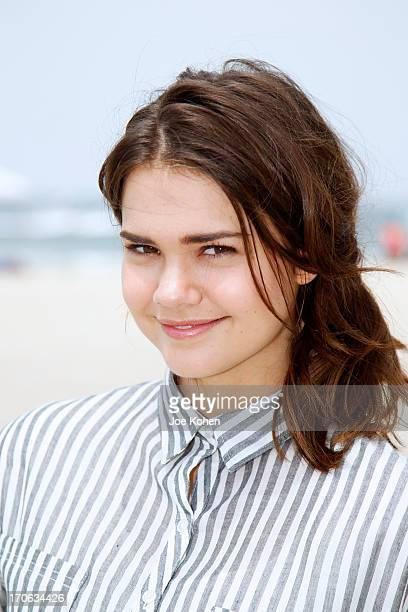 Actress Maia Mitchell star of Disney's 'Teen Beach Movie' Join Heal The Bay For Beach Clean Up on June 15 2013 in Venice California